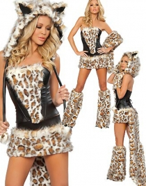 Deluxe Leopard Wolf Costume