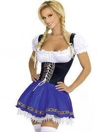 Waist Lace-up Beer Costume