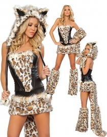 Sexy Strapless Tiger Costume