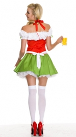 Sweet Puff Sleeve Bear Girl Costume