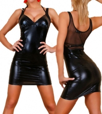 Black PU Mini Dress