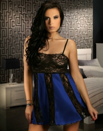 Stretch Lace and Mesh Babydoll