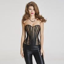 Net and Lace Overlay Corset for women