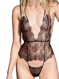 Sexy Eyelash Lace Women Babydoll