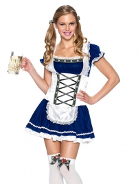 Sexy Bule German Bavarian Beer Girl Oktoberfest Costume