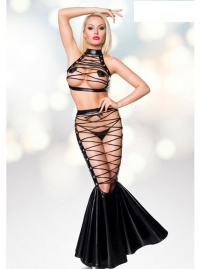 Sexy Hollow Cut Out Babydoll Fishnet Lingerie